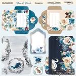 Лист двусторонней бумаги от Scrapmir - Конверты Blue & Blush, 20х20 см - ScrapUA.com