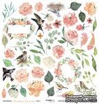 Лист односторонней бумаги для вырезания от Scrapmir - Цветы - Peaches & Cream, 30x30 см - ScrapUA.com