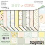 Набор двусторонней бумаги от Scrapmir - Boy or Girl, 20х20см, 11шт - ScrapUA.com