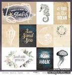 Лист односторонней бумаги от Scrapmir - Cards - Nautical Graphic, 30x30см - ScrapUA.com