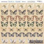 Лист двусторонней бумаги от Scrapmir - Бабочки - Nautical Graphic, 20х20см - ScrapUA.com