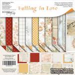 Набор двусторонней бумаги от Scrapmir - Falling in Love, 20х20см , 11шт - ScrapUA.com