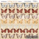 Лист двусторонней бумаги от Scrapmir - Бабочки - Falling in Love, 20х20см - ScrapUA.com