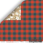 Лист двусторонней бумаги от Scrapmir - Красный Плед - Merry Christmas, 30x30см - ScrapUA.com