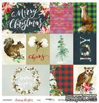 Лист односторонней бумаги от Scrapmir - Cards - Merry Christmas, 30x30см - ScrapUA.com