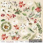 Лист односторонней бумаги от Scrapmir - Элементы - Merry Christmas, 30x30см - ScrapUA.com