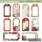 Лист двусторонней бумаги от Scrapmir - Tag-Pad - Art Christmas, 20х20см - ScrapUA.com