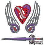Набор лезвий Spellbinders - Shapeabilities Fallen Angel, 4 шт., S4-299 - ScrapUA.com