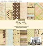 Набор бумаги от Simple Stories - Baby Steps, 15x15см, 36 листов - ScrapUA.com