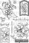 Набор акриловых штампов от Flourishes - Botanical Bookplates Vol. 2 - ScrapUA.com