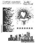 Резиновые штампы от Stampers Anonymous - Tim Holtz Cling Mounted Stamp Sets Rockstar, 4 шт. - ScrapUA.com