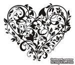 Акриловый штамп SV012 Сердце, размер 6 * 5,2 см - ScrapUA.com