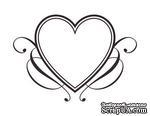 Акриловый штамп SV014 Сердце, размер 4,2 * 2,9 см - ScrapUA.com