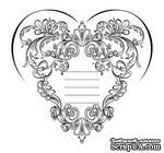 Акриловый штамп SV015 Сердце, размер 6,1 * 5,8 см - ScrapUA.com