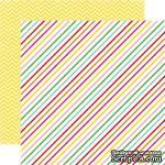 Лист скрапбумаги от Echo Park - Candy Stripe, 30х30 см - ScrapUA.com