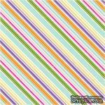 Лист скрапбумаги от Echo Park - Hippity Stripe, 30х30 см - ScrapUA.com