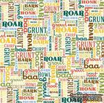 Лист скрапбумаги от Echo Park - Animal Sounds, 30х30 см - ScrapUA.com