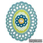 Лезвия Sizzix - Sizzix Thinlits Die Set - Frame Layers & Flowers, 4 шт. - ScrapUA.com