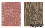 Набор папок для тиснения Sizzix Woodgrain Texture Fade, 2 шт. - ScrapUA.com
