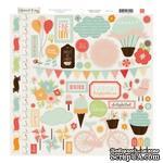 Наклейки от Echo Park - Sweet Day Collection - 12 x 12 Cardstock Stickers - Elements, 30x30 - ScrapUA.com