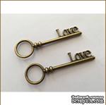 Металлический ключик - LOVE, 8х2,5 см - ScrapUA.com