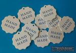 """Набор белых тэгов """"HandMade"""", 10 шт.: 55х55мм, цвет надписи на выбор - ScrapUA.com"""