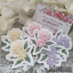 Вышитая миниатюра - цветочный патч от Allmacraft, цвет на выбор - ScrapUA.com