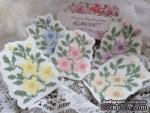 Вышитая миниатюра - цветочный патч - фиалки - от Allmacraft, цвет на выбор - ScrapUA.com