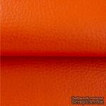 Экокожа, цвет - оранжевый, толщина 0.6 мм, 50Х70 см - ScrapUA.com