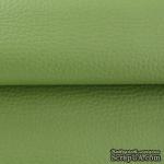 Экокожа, цвет - зеленый (армейский), толщина 0.6 мм, 50Х70 см - ScrapUA.com