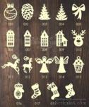 Деревянные игрушки на елку, серия 1 - ScrapUA.com