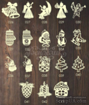 Деревянные игрушки на елку, серия 2-2 - ScrapUA.com