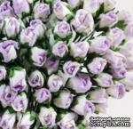 Буточники розы, цвет сиреневый с белым, диаметр - 4мм, 10 шт. - ScrapUA.com