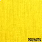 Дизайнерский картон с текстурой льна Sirio tela limone, 30х30, желтый, 290 г/м2 - ScrapUA.com