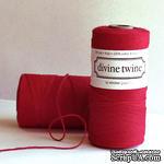 Хлопковый шнур от Divine Twine - Red Solid, 1 мм, цвет красный, 1м - ScrapUA.com