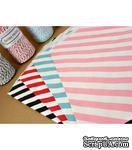 Конвертик в диагональную полоску, красный с белым, Diagonal Striped Bigger Bitty Bags, 15,9х23,5см, 1 шт. - ScrapUA.com
