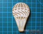 Деревянное украшение от Вензелик - Воздушный шар 01, 37x59 мм - ScrapUA.com