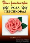 Набор тутовой бумаги для создания цветов - роза персиковая - ScrapUA.com