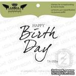 Акриловый штамп Lesia Zgharda TA055a Happy birthday, размер 3,9x3,7 см - ScrapUA.com