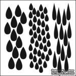 Маска The Crafter's Workshop - Mini Template Rain, 15х15 см. - ScrapUA.com