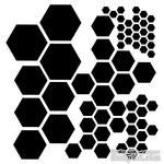 Маска The Crafter's Workshop - Mini Template Hexagons, 15х15 см - ScrapUA.com