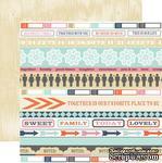 Лист двусторонней скрапбумаги Teresa Collins Designs - Family Stories - Noted, 30х30 см - ScrapUA.com