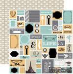 Лист двусторонней скрапбумаги Teresa Collins Designs - Memorabilia - Snippets, 30х30 см - ScrapUA.com