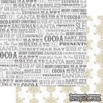 Лист двусторонней бумаги Teresa Collins - Tinsel and Company - Words, размер 30х30 см - ScrapUA.com