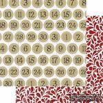Лист двусторонней бумаги Teresa Collins - Tinsel and Company - Countdown, размер 30х30 см - ScrapUA.com