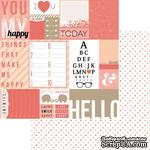 Лист двусторонней скрапбумаги Teresa Collins Designs - You Are My Happy - Hello Tags, 30х30 см - ScrapUA.com