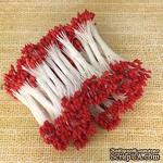 Тайские тычинки, двусторонние, каплевидные красные головки, 46-52 шт. - ScrapUA.com