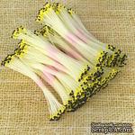 Тайские двусторонние тычинки с каплевидными головками, цвет желто-черный, в пучке 46-52 шт. - ScrapUA.com