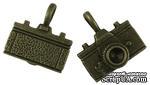"""Металлическое украшение """"Фотоаппарат"""", античная бронза, размер 22х20 мм, 1 шт - ScrapUA.com"""