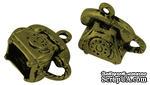 """Металлическое украшение """"Телефон"""", античная бронза, размер 15х14 мм, 1 шт - ScrapUA.com"""